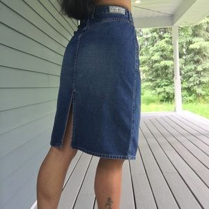 Lucky Brand denim skirt Dungarees 8/29
